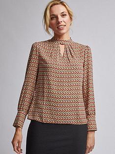 dorothy-perkins-dorothy-perkins-geometric-print-long-sleeve-top-camel