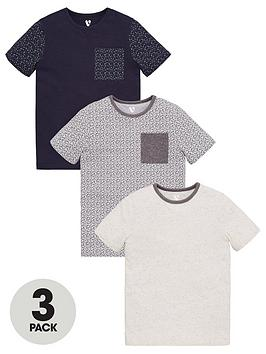 v-by-very-boys-3-pack-short-sleeve-micro-floral-chest-pocket-t-shirts