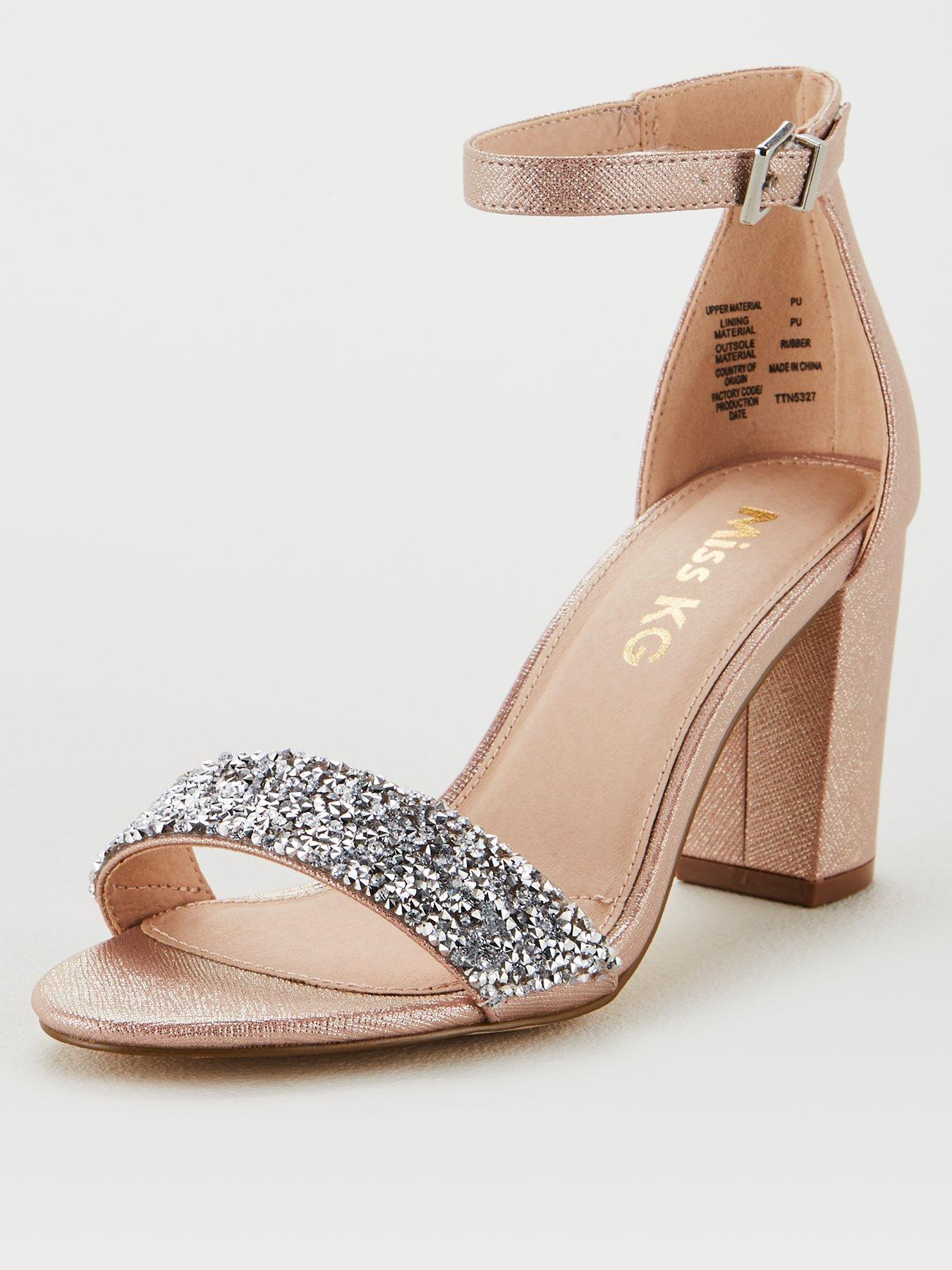 Miss KG Cadey Bling Block Heel Sandal