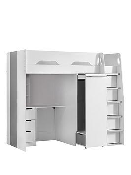 julian-bowen-max-high-sleeper-bed-with-desk-drawers-pull-out-wardrobe-and-hidden-cupboards