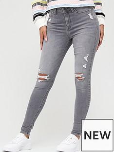 v-by-very-ella-irregular-rip-high-waisted-skinny-jean-grey