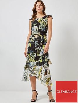 dorothy-perkins-dorothy-perkins-floral-asymmetric-ruffle-midi-dress-black