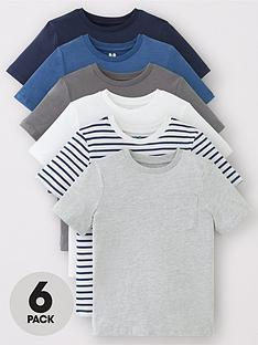 v-by-very-boys-6-pack-short-sleeve-pocket-t-shirts-blues