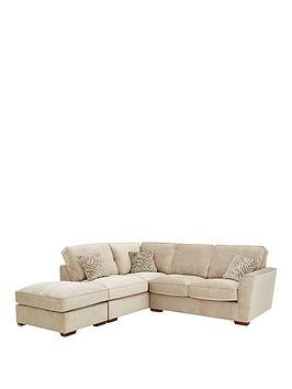 Kingston L/H Corner Chaise Sofa Bed With Footstool