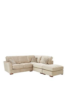 Kingston Fabric Right Hand Corner Chaise Sofa Bed With Footstool