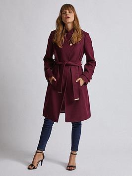 dorothy-perkins-wrap-coat-burgundy