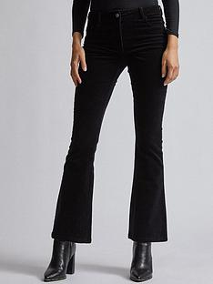 dorothy-perkins-dorothy-perkins-cord-kick-flare-trousers-black
