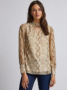 dorothy-perkins-dorothy-perkins-snake-print-long-sleeve-top-multi