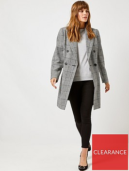 dorothy-perkins-dorothy-perkins-check-double-breasted-coat-monochrome