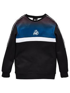 kings-will-dream-boys-dector-crew-neck-sweatshirt-black
