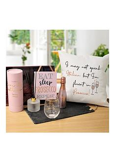 prosecco-hamper-with-personalised-tumbler-hanging-plauqe-and-diffuser