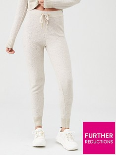 river-island-river-island-sequin-knitted-joggers-beige