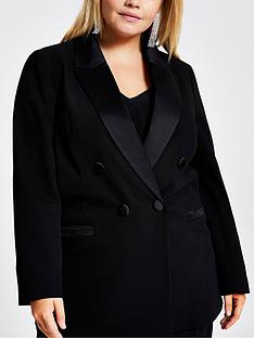 ri-plus-ri-plus-double-breasted-satin-trim-jacket-black