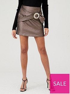 river-island-river-island-diamante-buckle-mini-skirt-bronze