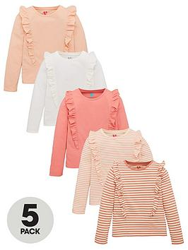 v-by-very-girls-5-pack-long-sleeve-ruffle-tops-multi