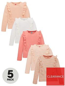 v-by-very-girls-5-pack-long-sleeve-ruffle-tops-multi