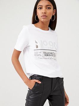 river-island-river-island-printed-diamante-tassel-t-shirt-white