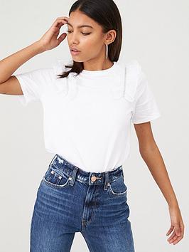 river-island-river-island-mesh-ruffle-shoulder-t-shirt-white