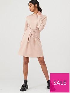river-island-corset-sweater-dress-pink