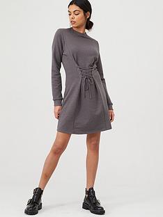 river-island-corset-sweater-dress-grey