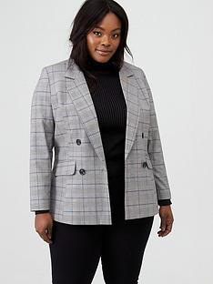 v-by-very-curve-check-blazer-check-printnbsp
