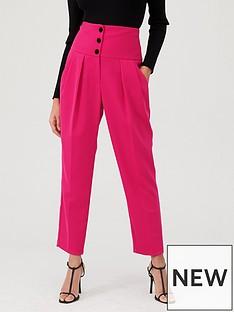 river-island-river-island-high-corset-waist-cigarette-trousers--pink