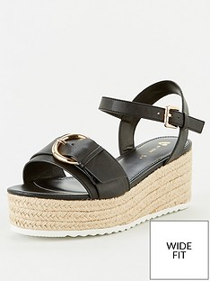 v-by-very-darlene-wide-fit-buckle-wedge-sandal-black