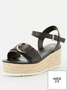 v-by-very-darlene-wide-fit-buckle-wedge-sandal-black
