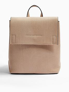 topshop-blaze-clean-backpack-nude