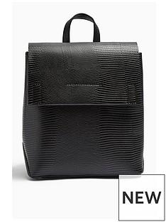 topshop-topshop-blaze-lizard-backpack-black