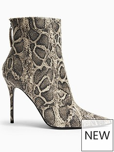topshop-eda-snake-print-point-boots-grey