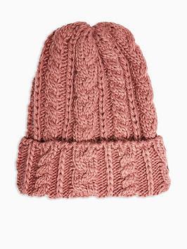topshop-topshop-cable-knit-beanie-hat-plum
