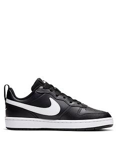 nike-court-borough-low-2-junior-trainer-blackwhite