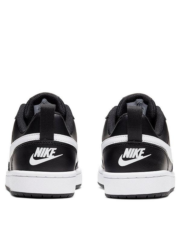 Tienda cerca Inactivo  Nike Court Borough Low 2 Junior Trainer - Black/White | very.co.uk