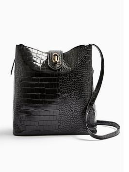 topshop-croc-tote-bag-black
