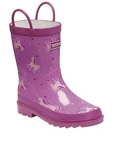 regatta-girls-mudplay-junior-unicorn-wellies-pink