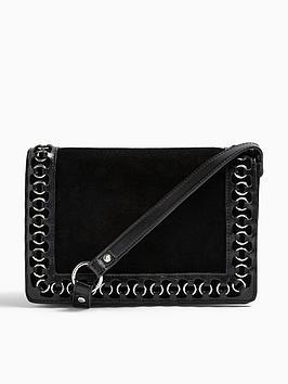 topshop-shady-snake-ring-cross-body-bag-black