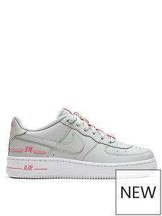 nike-air-force-1-lv8-3-junior-trainers-greypink