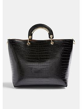 topshop-tao-croc-metal-handle-tote-bag-black