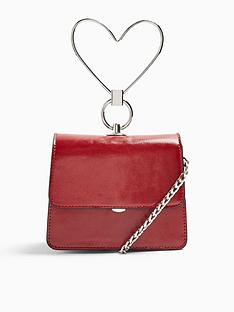 topshop-lily-heart-handle-grab-bag-red
