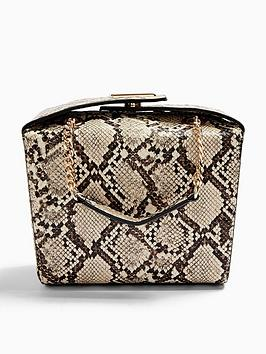 topshop-snake-print-boxy-bag-natural