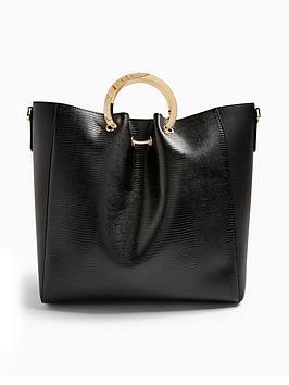 topshop-faro-ring-handle-tote-bag-black