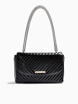 topshop-solo-quilted-shoulder-bag-black