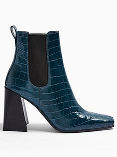 topshop-harbournbspchelsea-boot-teal