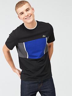 lacoste-sports-mesh-print-colour-block-tech-t-shirt-black