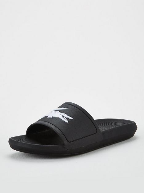 lacoste-croco-sliders-black