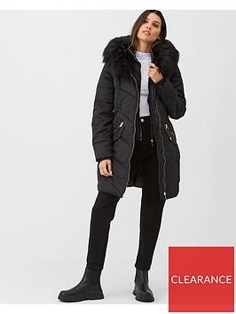 oasis-albany-long-padded-coat-black
