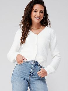 michelle-keegan-fluffy-knitted-cardigan-white