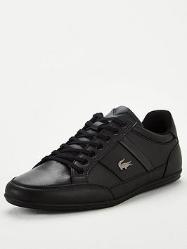lacoste-chaymon-leather-trainers-black