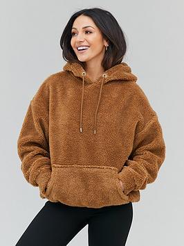 michelle-keegan-teddy-fur-oversized-hoody-camel